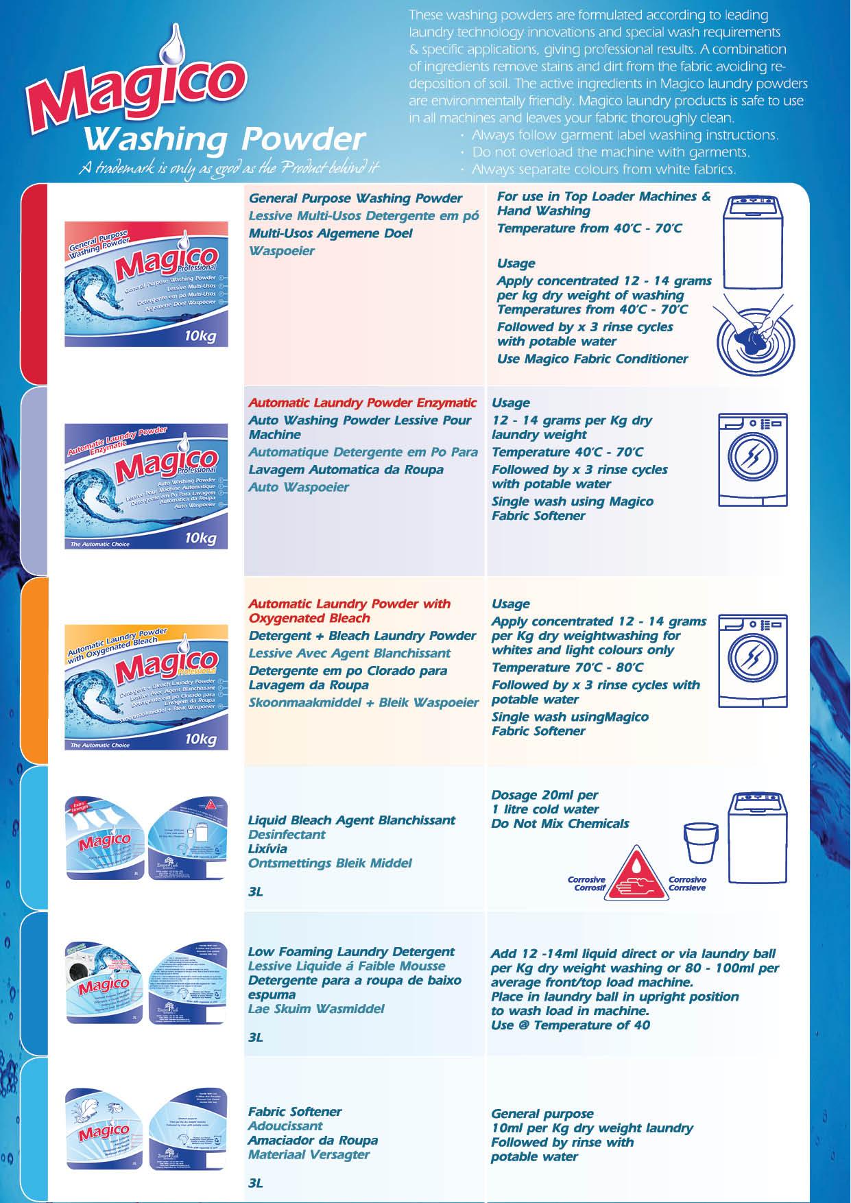 Washing Powder Catalogue